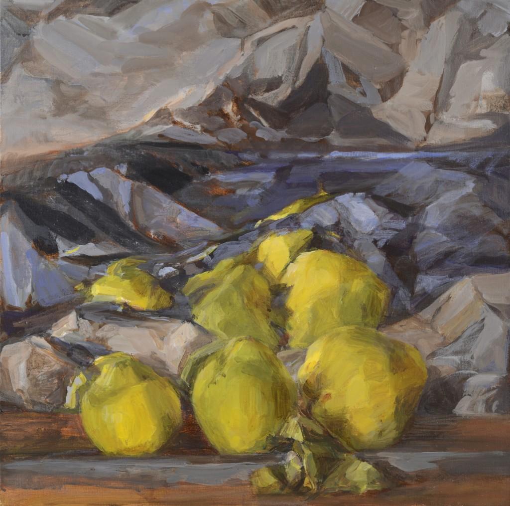 Coings - Paysage - Acrylique sur toile - 60 x 60 - 2012 - Col. part.