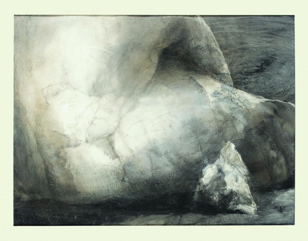 Etre de pierre - Paysage - 55 x 75 - 2005 - Col. part.