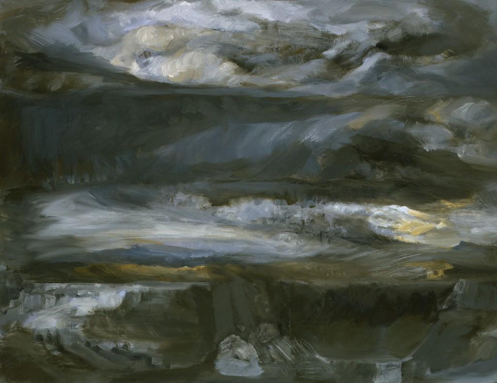 Paysage - Huile sur papier - 50 x 65 - 2009