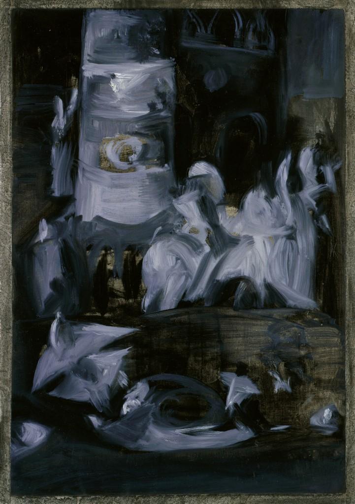 Tentation de Saint Antoine - D'après Jerôme Bosh - Huile sur papier - 39 x 57 - 2009