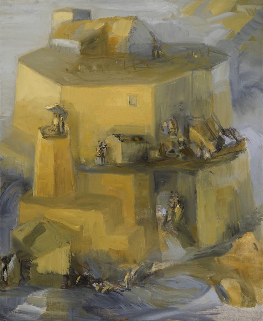 Maison dans la maison - Paysage - Huile - 46 x 38 - 2012 - Col. part.