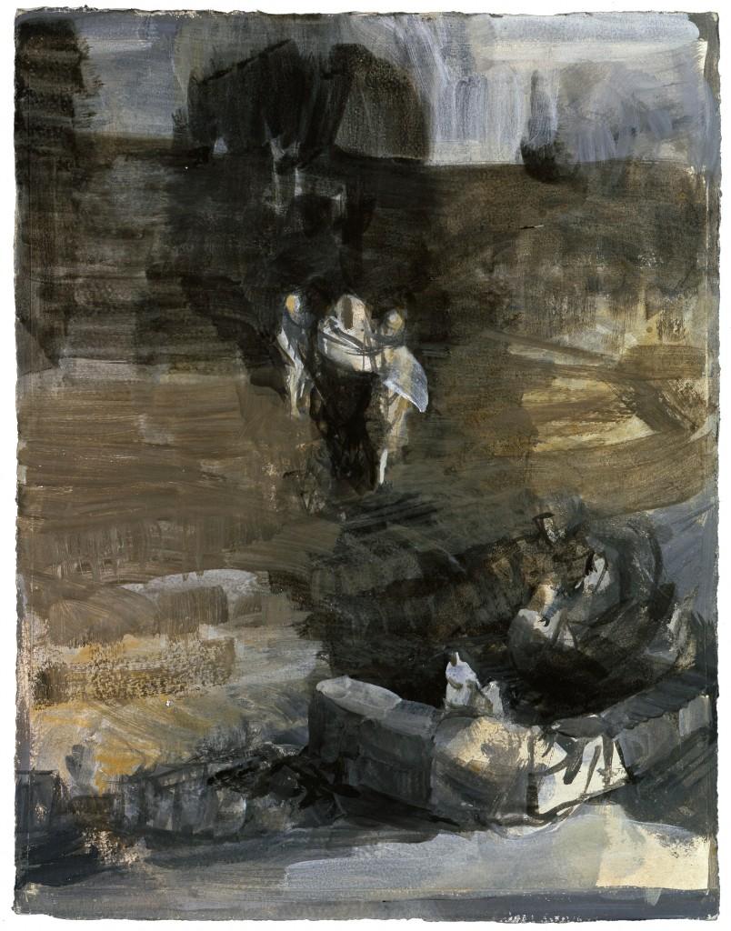 n°49 Paysage - Tempéra sur papier - 34 x 44 - 2009 - Col. part.