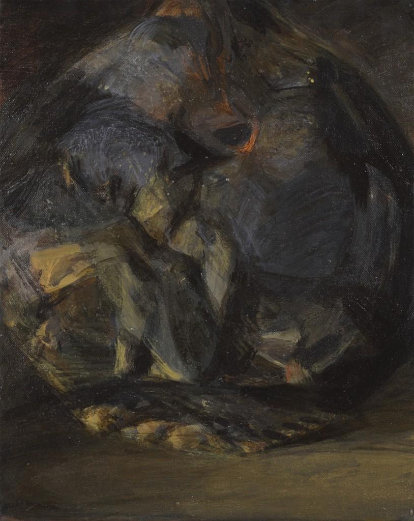 Vieux coing - Paysage - Huile sur toile - 41 x 33 - 2012 - Col. part.