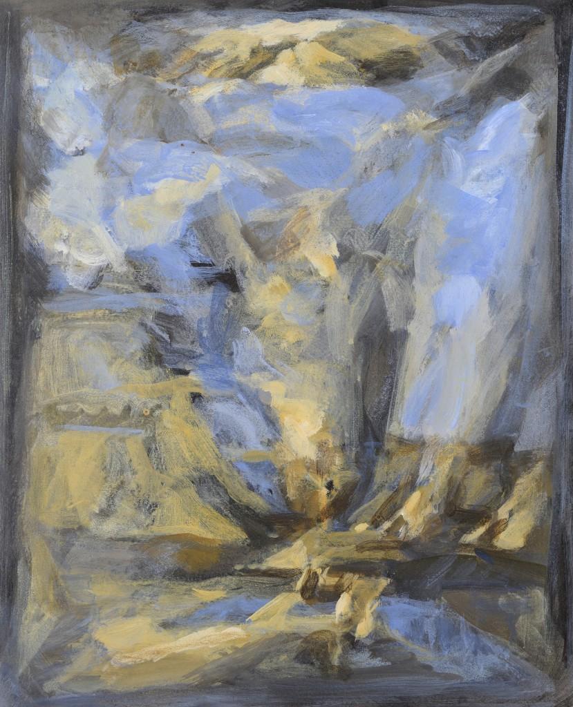 Bonne explosion - Paysage - Huile sur toile - 41 x 33 - 2012 - Col. part.