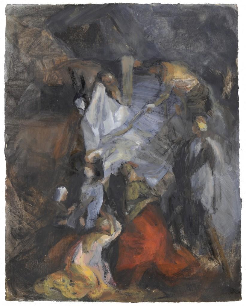 n°52 Décente de croix - D'après Rubens - Huile - 46 x 38 - 2012 - Col. part.
