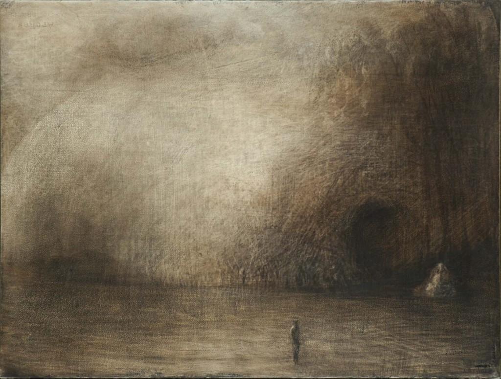 La grotte de Calypso - Paysage - 58 x 76 - 2005 - Col. part.