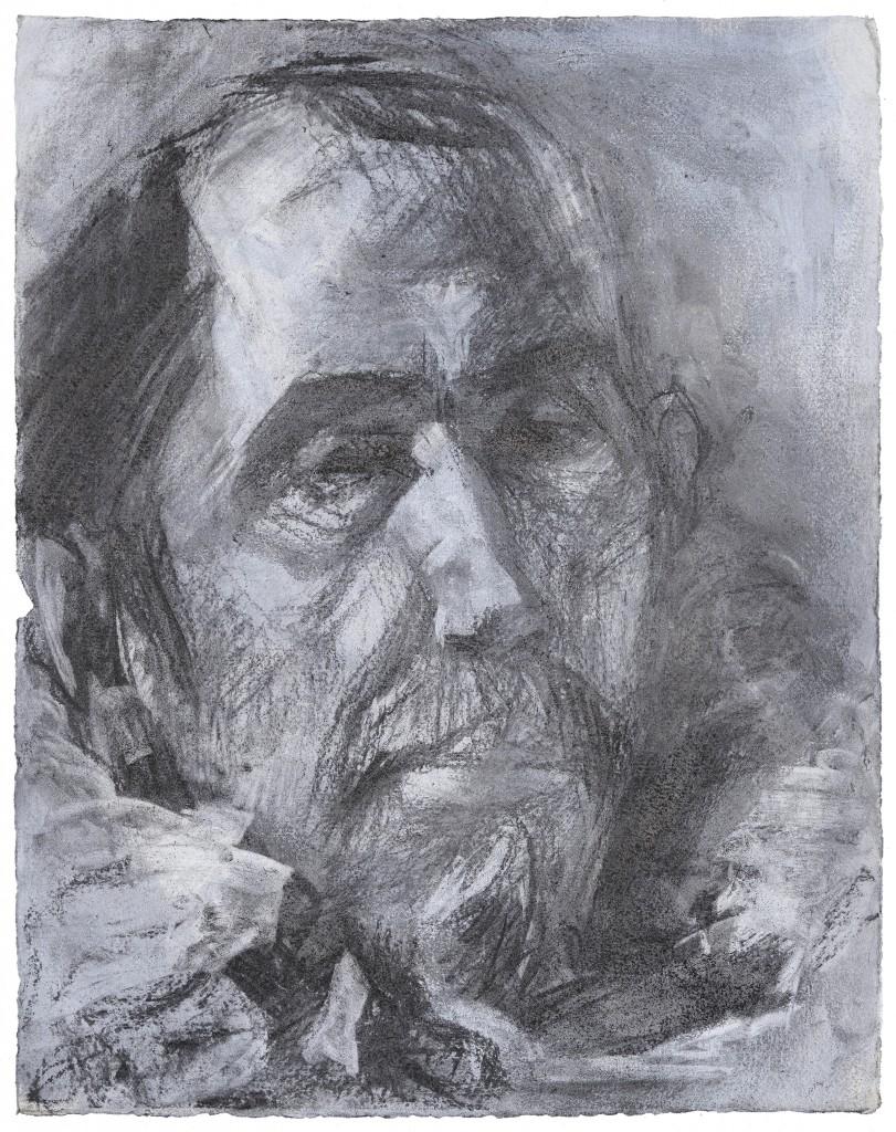 Francisco Paceco - D'après Velasquez - Fusains - 44 x 34 - 2012 - Col. part.