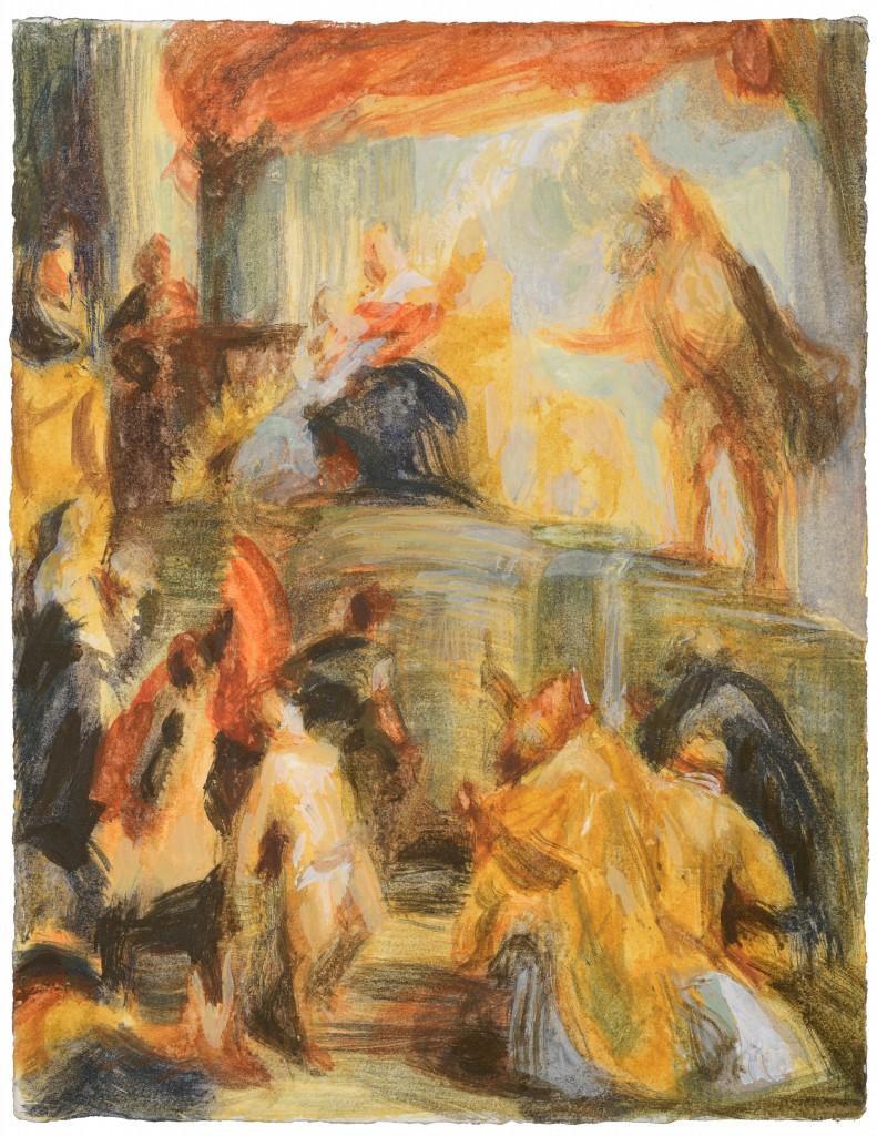 Marie effacée - D'après Rubens - Acrylique - 43.5 x 34.5 - 2012