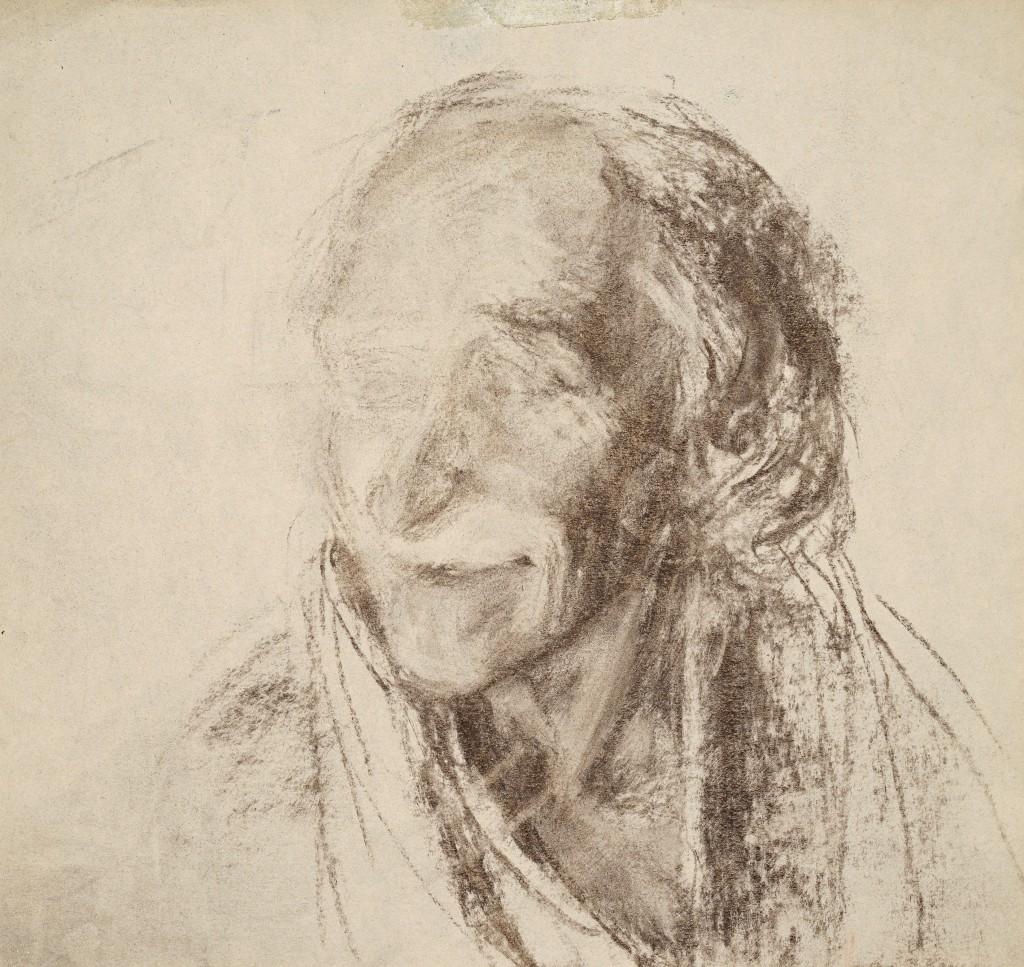 Voltaire - D'après sculpture - Fusains - 30 x 30 - 2009 - Col. part.