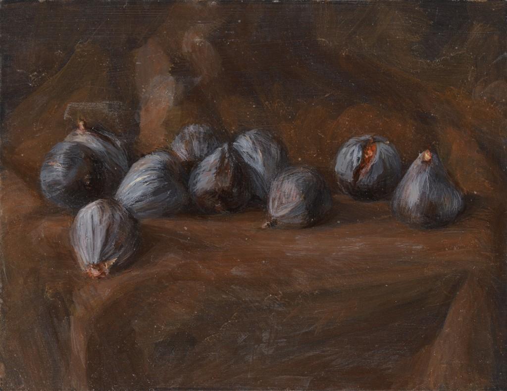 Figues - Nature Morte - Huile sur bois - 30 x 40 - 2012 - Col. part.