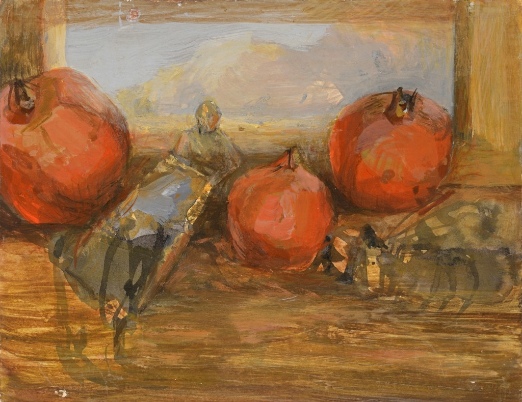 Grenade - Paysage - Tempéra sur bois - 31 x 24 - 2012 - Col. part.