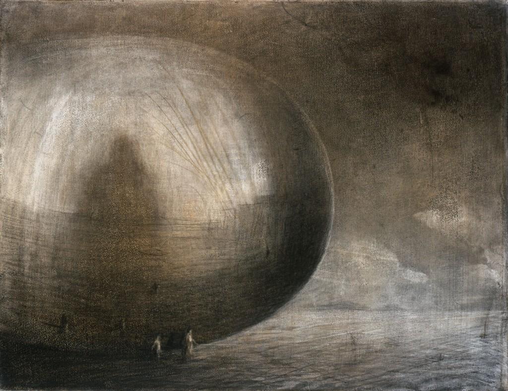 Une autre sphère - Paysage - 50 x 65 - 2006