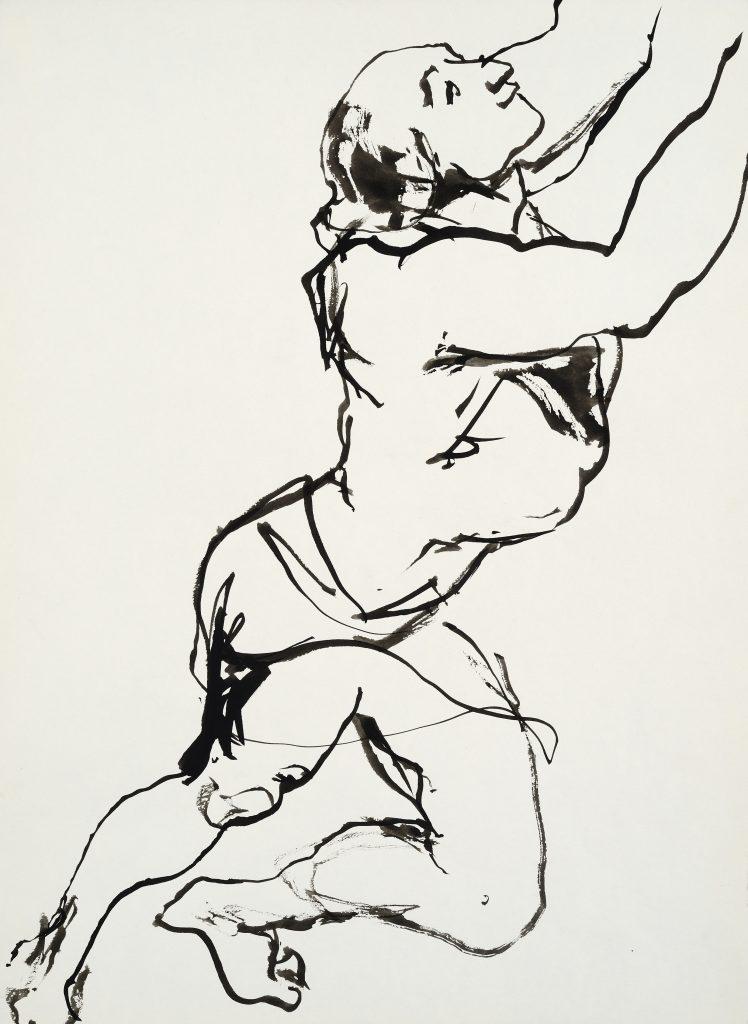 Homme sautant - D'après Rubens - 30 x 40 - 2010