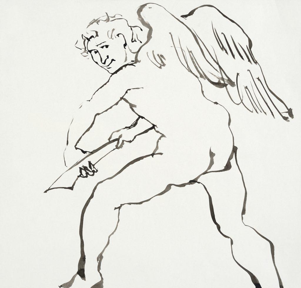 Amour coupe son Arc - D'après Rubens - 30 x 40 - 2010