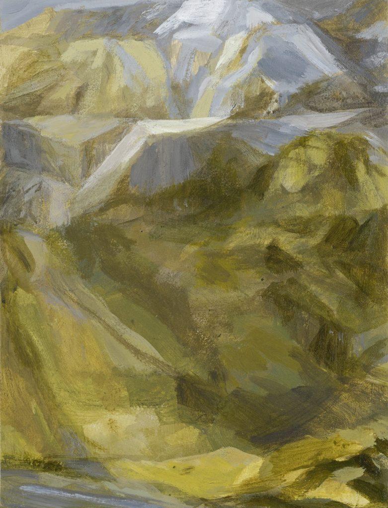 C52 - Paysage - Tempéra - 44 x 34 - 2015