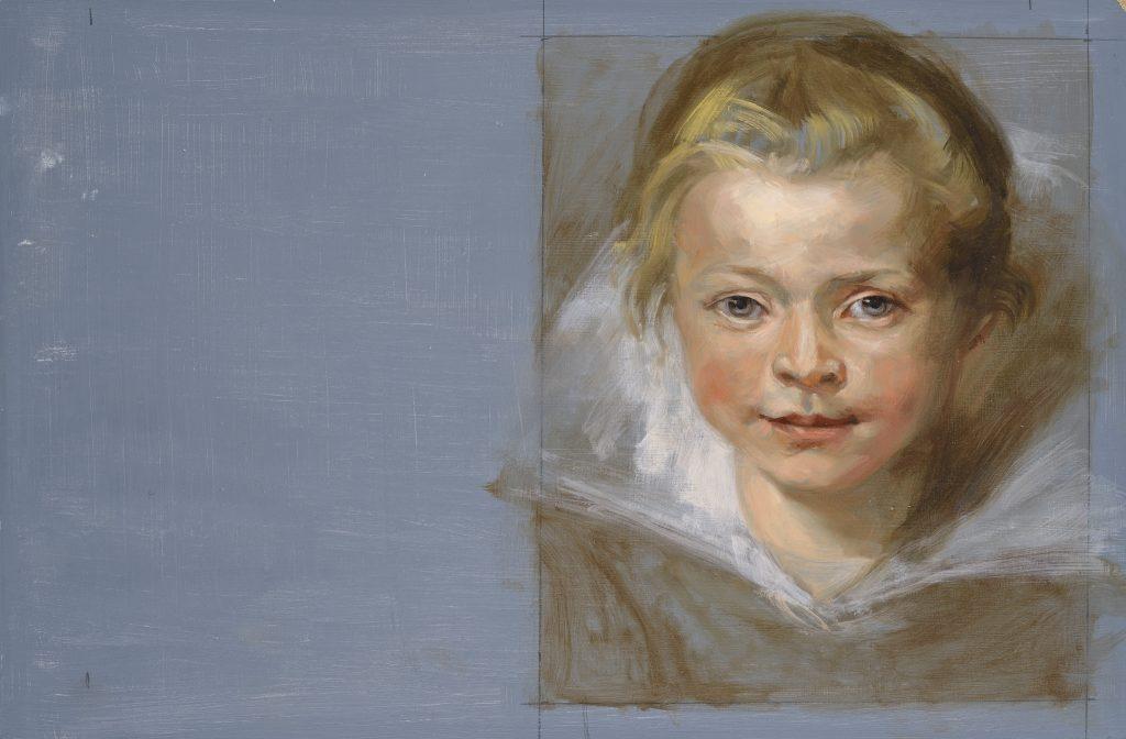 Portrait - D'après Rubens - Huile sue bois