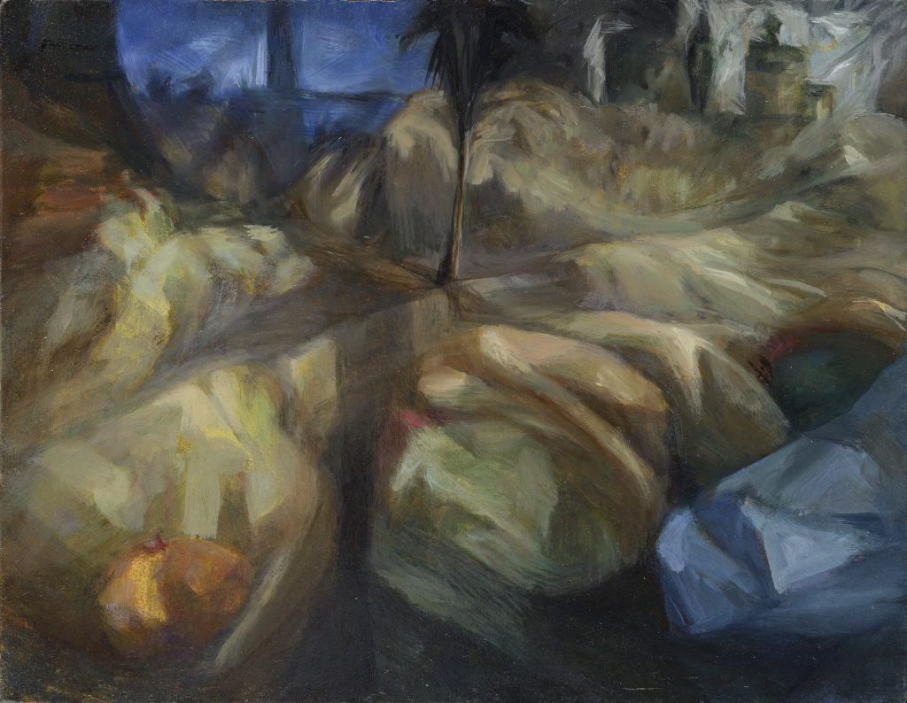 A7 - Paysage - Tempéra et Huile - 34 x 44 - 2014