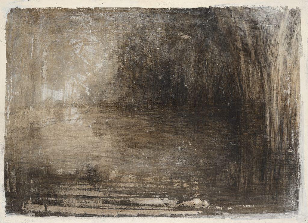 Dans les joncs - Paysage - Fusain - 42 x 58 - 2006