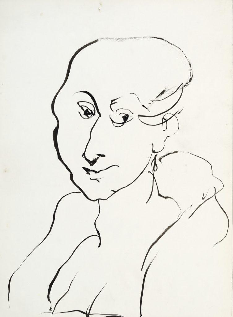 Buste femme - D'après Rubens - Lavis - 30 x 40 - 2010