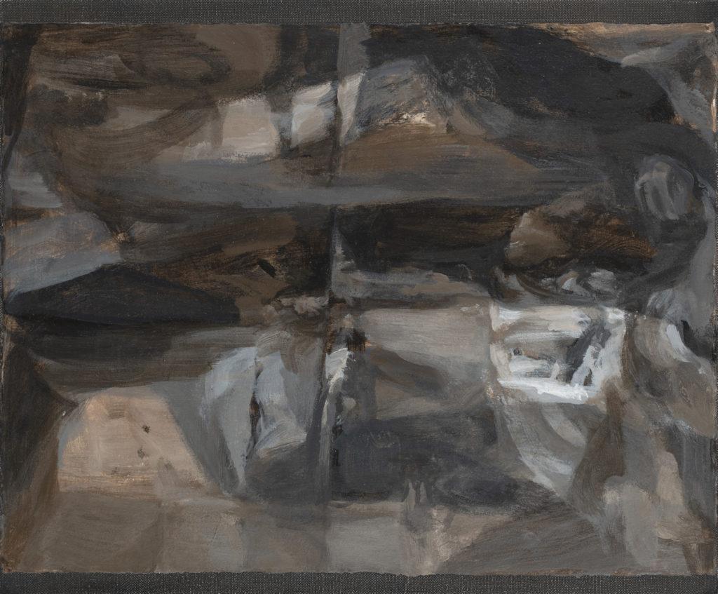 08 - huile sur papier marouflé - 38x46 - cascade - 2018